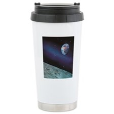 Earth and Lunar surface Travel Mug