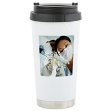 Below View of Male and  Travel Mug