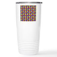 Rainbow Smiley Face Pat Travel Coffee Mug