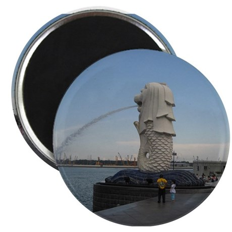 The Singapore Merlion (Side) Magnet