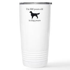 80 birthday dog years golden retriever Travel Mug