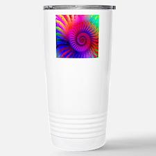 Psychedelic Pink Rainbo Travel Mug