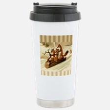Winter Foxes Sledding Travel Mug