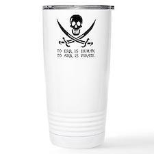Witty Pirate Travel Coffee Mug