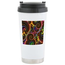 Funky Rainbow Swirl Pat Travel Mug