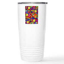 Hippie Smiley Face Rain Travel Coffee Mug