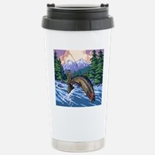 Mountain Trout Fisherma Stainless Steel Travel Mug