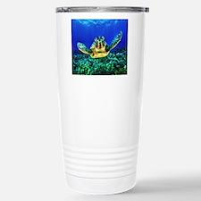 aquatic sea turtle Travel Mug