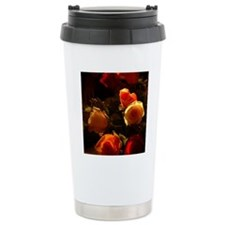 Roses I - Orange, Red a Travel Coffee Mug