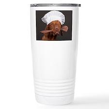 vizsla chef Travel Coffee Mug