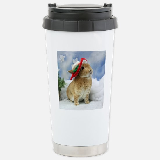 Bunny Christmas Ornamen Stainless Steel Travel Mug