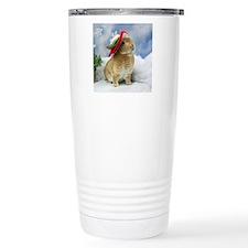 Bunny Christmas Ornamen Travel Mug