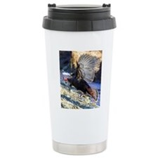 Wild Turkey in Flight Travel Mug