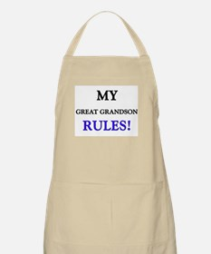 My GREAT GRANDSON Rules! BBQ Apron