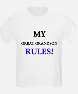 My GREAT GRANDSON Rules! T-Shirt
