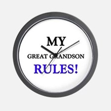 My GREAT GRANDSON Rules! Wall Clock