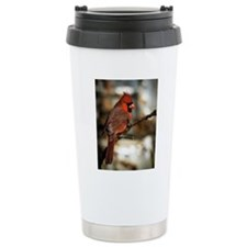Male northern cardinal Travel Mug