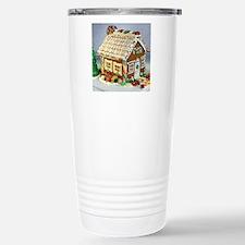 Gingerbread House Stainless Steel Travel Mug