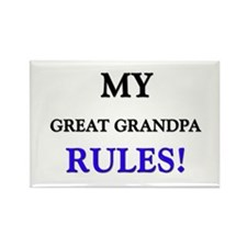 My GREAT GRANDPA Rules! Rectangle Magnet (10 pack)
