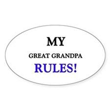 My GREAT GRANDPA Rules! Oval Decal