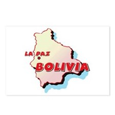 Bolivia Map Postcards (Package of 8)