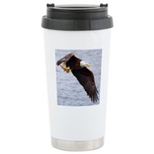 Adult Bald Eagle with f Stainless Steel Travel Mug