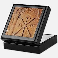 Christian Stele. Chi-Rho symbol. 5th- Keepsake Box