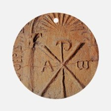 Christian Stele. Chi-Rho symbol. 5t Round Ornament