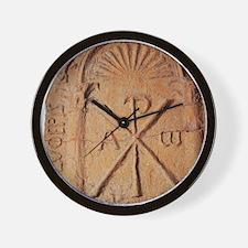 Christian Stele. Chi-Rho symbol. 5th-7t Wall Clock