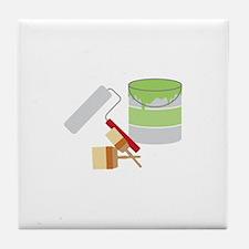 Painters Tools Tile Coaster