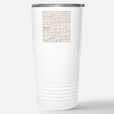 Shakespeare Insults Stainless Steel Travel Mug