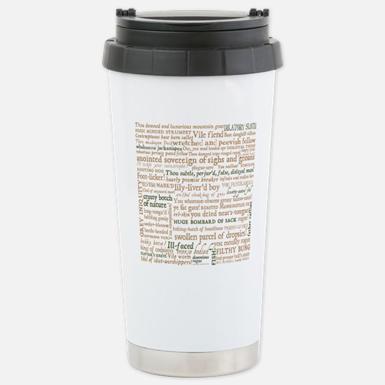 Shakespeare Insults Stainless Steel Travel Mug