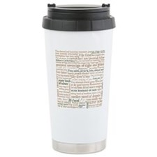 Shakespeare Insults Travel Coffee Mug