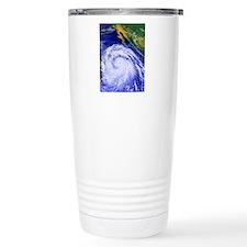 Coloured satellite imag Travel Mug