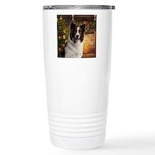 Border Collie Ornament Travel Coffee Mug