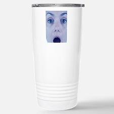 Surprised woman Stainless Steel Travel Mug