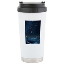 Winter sky with Orion c Travel Coffee Mug