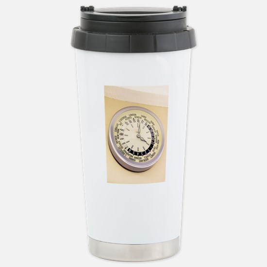 World clock Stainless Steel Travel Mug