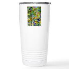 Abstract image of a cir Travel Coffee Mug