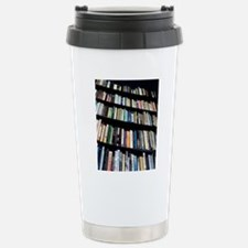 Books on bookshelves Travel Mug