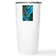 Close-up of part of a m Travel Coffee Mug