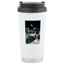 Computer artwork of a f Travel Coffee Mug