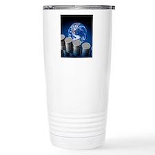 Earth's oil reserves, c Travel Mug