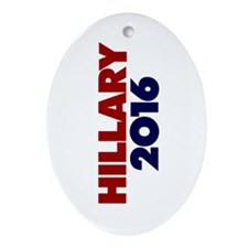 Hillary 2016 Ornament (Oval)