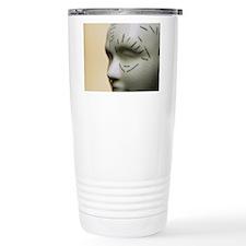 Phrenology head Travel Coffee Mug