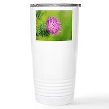Spear thistle flower Travel Mug