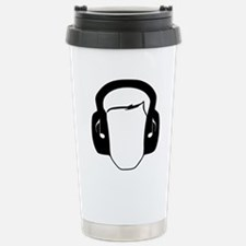 Hearing Protection Blac Stainless Steel Travel Mug