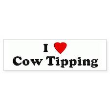 I Love Cow Tipping Bumper Bumper Sticker