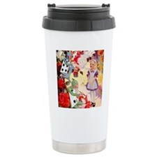 Alice Painting Roses SQ Travel Mug