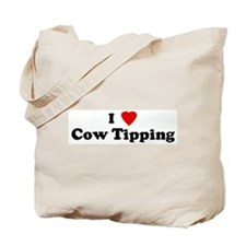 I Love Cow Tipping Tote Bag